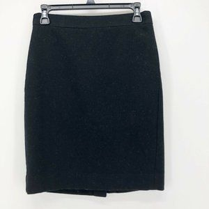 J.Crew Womens Pencil Skirt Black Knee Length Sz 0